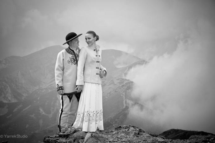 Zdjecia ślubne w górach Kasprowy Wierch, sesja w Tatrach, Zakopane