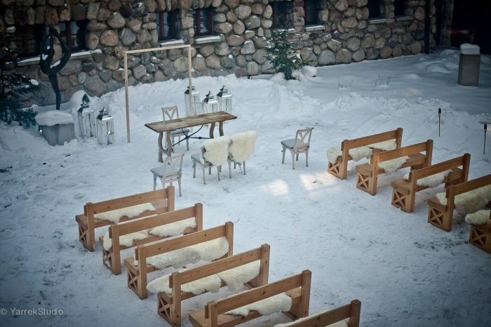 zdjecia slubne zima zakopane ceremonia hotel aries slub cywilny