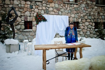 Slub zima zakopane tatry
